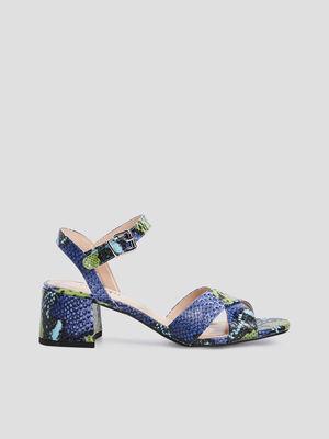 Sandales texturees a talons multicolore femme