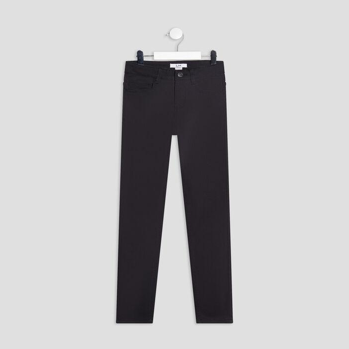 Pantalon skinny stretch garçon noir