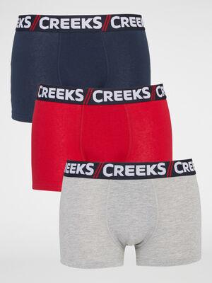 Lot 3 boxers Creeks multicolore homme