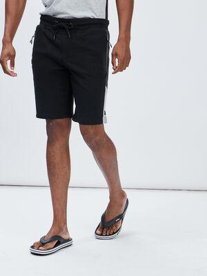 Bermuda jogging droit noir homme