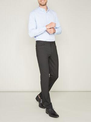 Pantalon de ville ajuste uni noir homme