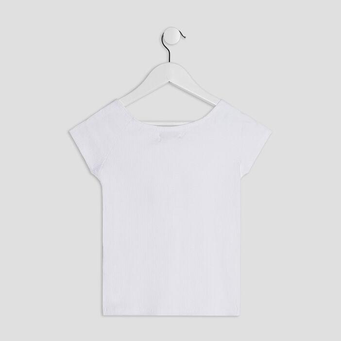 T-shirt manches courtes fille blanc