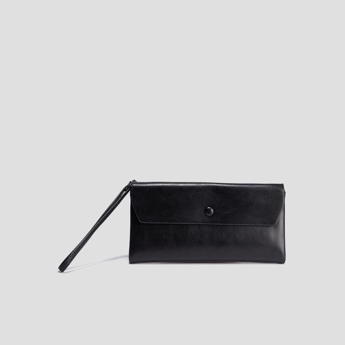 Portefeuille rectangulaire femme noir