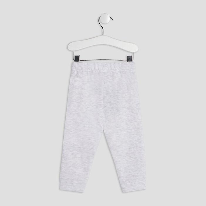 Pantalon jogging bébé garçon ecru