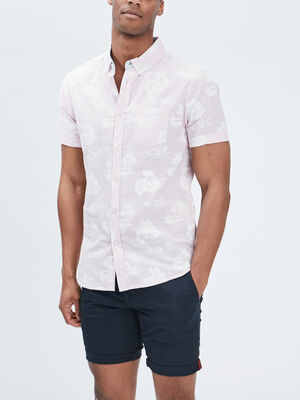 Chemise manches courtes Creeks rose homme