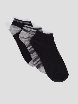 Lot 3 paires de socquettes noir garcon