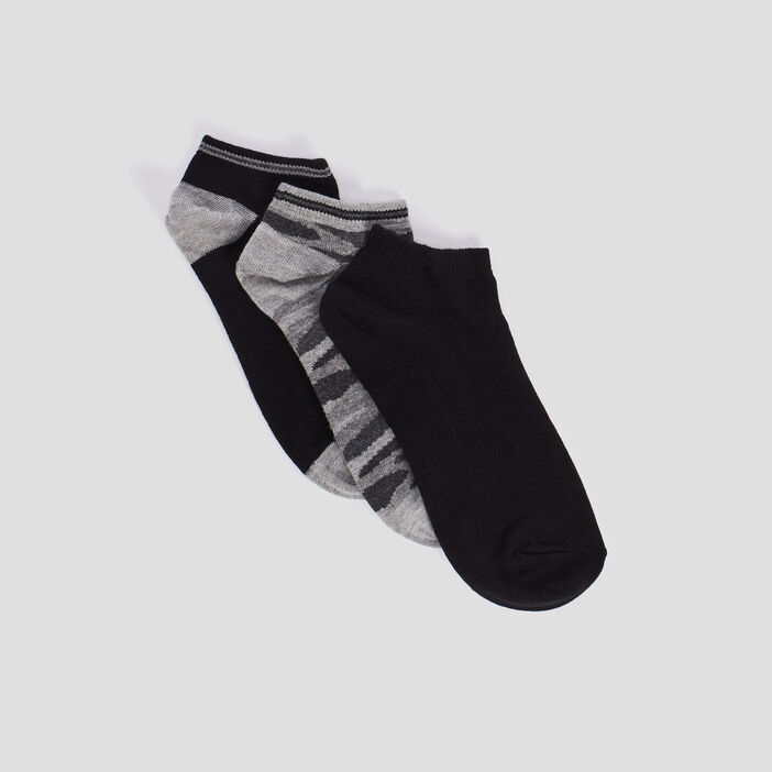 Lot 3 paires de socquettes garçon noir