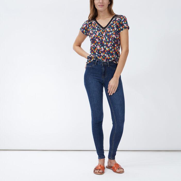 T-shirt manches courtes femme multicolore