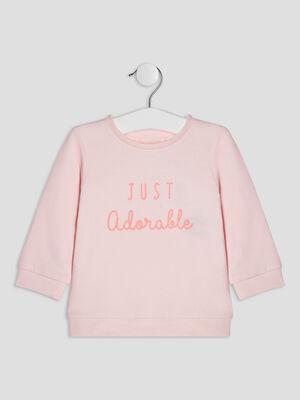 Sweat manches longues rose clair bebef