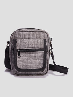 Sac besace bandouliere gris homme