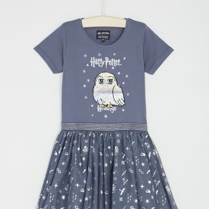 Robe Harry Potter jupe tulle fille gris