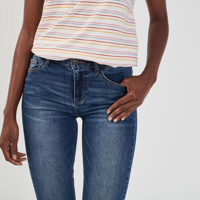 Jeans regular taille basse femme denim stone