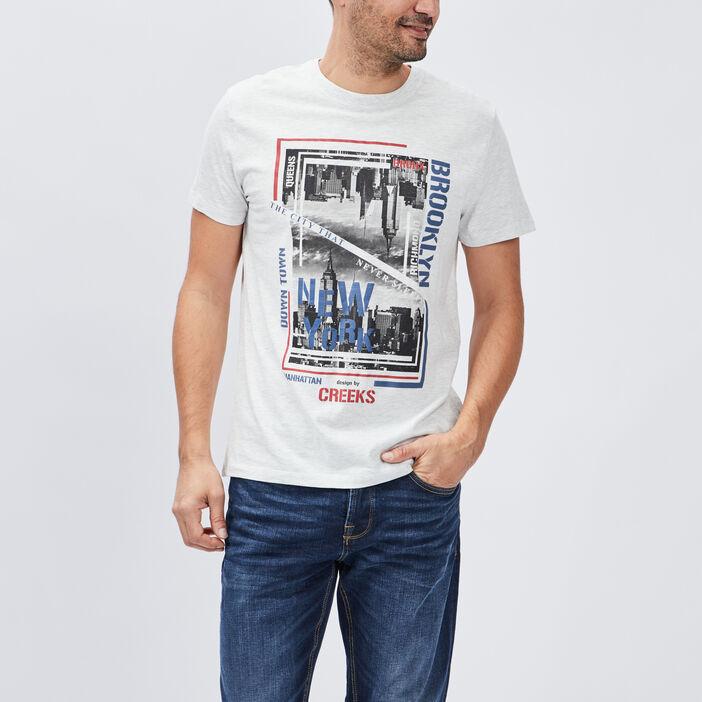 T-shirt manches courtes Creeks homme gris clair