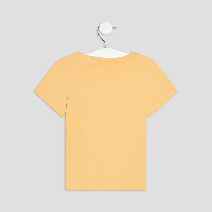 T-shirt Pat et Ripaton bébé garçon jaune