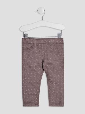 Pantalon jegging taupe bebef