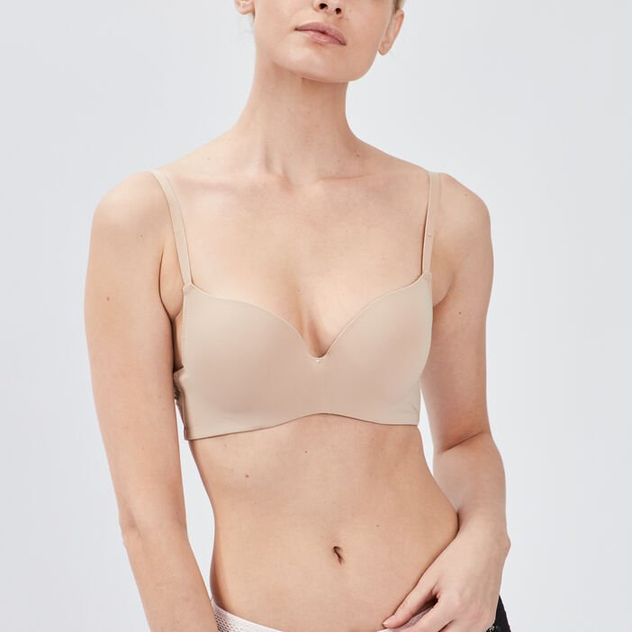 Soutien-gorge ampliforme femme beige