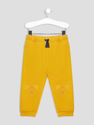 Jogging droit molletonne jaune moutarde bebeg