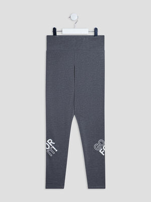 Pantalon legging gris fonce fille