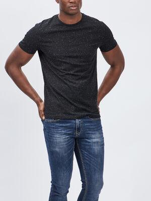 T shirt manches courtes noir homme