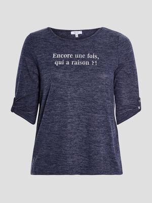 T shirt bleu marine femmegt
