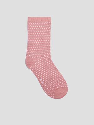 Lot 5 paires de chaussettes rose femme