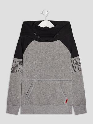 Sweat a capuche gris garcon
