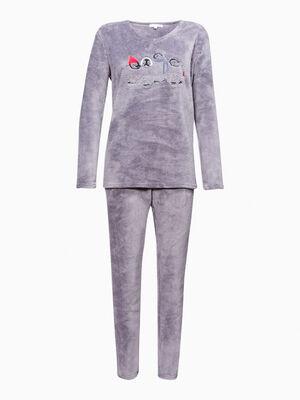 Pyjama 2 pieces fantaisie rose clair femme