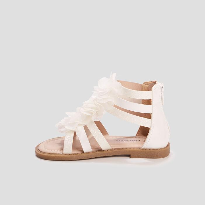 Sandales spartiates Liberto fille blanc