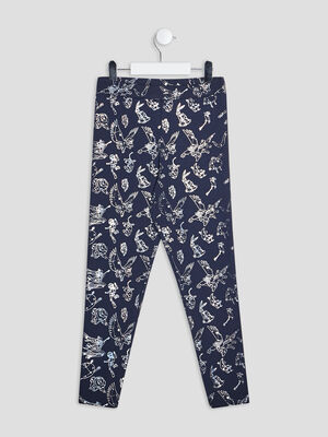 Leggings bleu marine fille