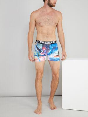 Calecon Freegun imprime sports extremes bleu homme