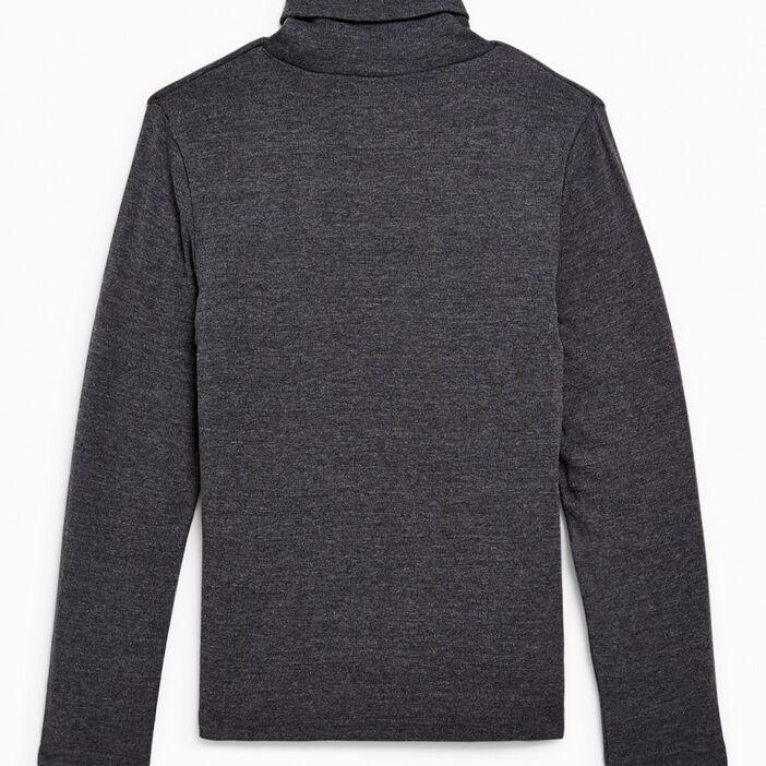 T-shirt uni manches longues garçon gris foncã‰