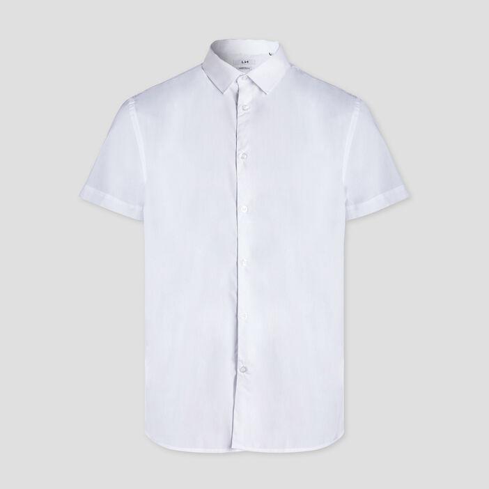 Chemise manches courtes homme blanc