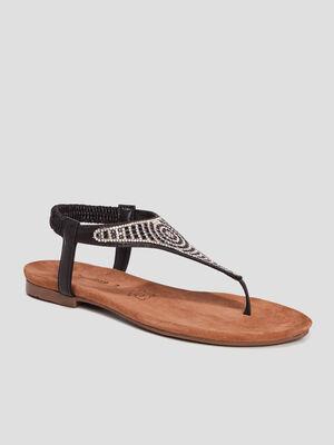Sandales a strass Mosquitos noir femme