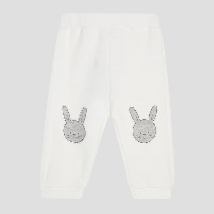 Pantalon avec patchs bébé garçon blanc