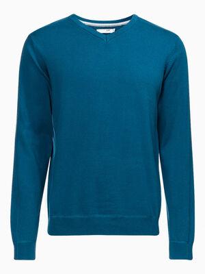 T shirt manches courtes avec imprime bleu marine homme
