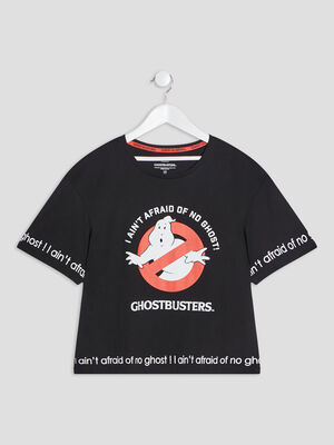 T shirt Ghostbusters noir fille