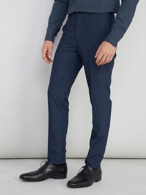 Pantalon zippe coupe slim bleu homme