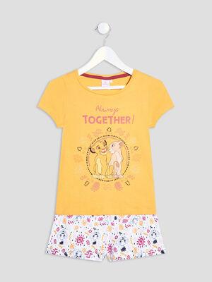 Ensemble pyjama Le Roi lion jaune fille
