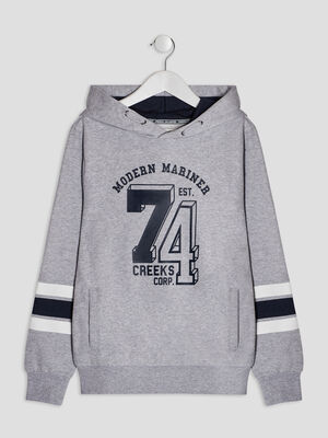 Sweat a capuche Creeks gris garcon