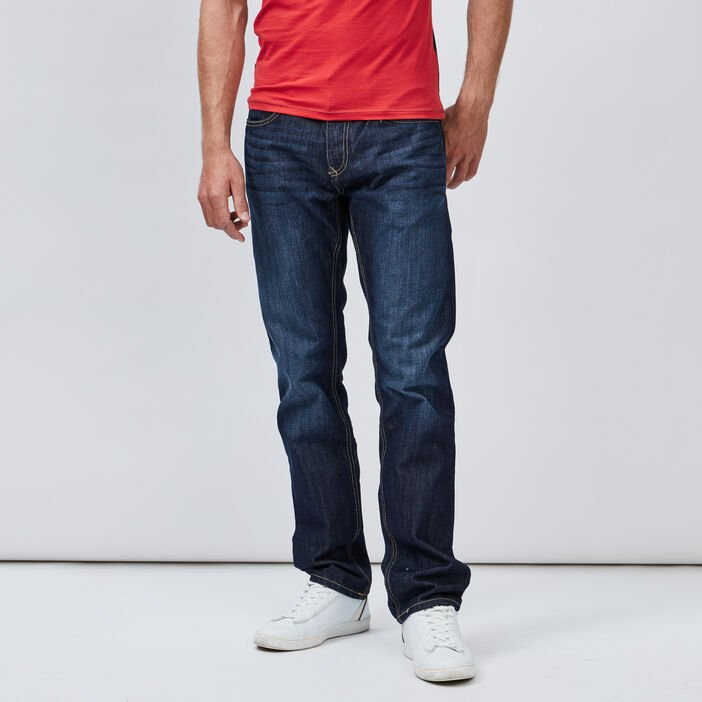 Jeans regular homme denim brut