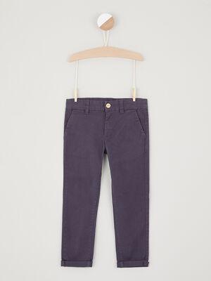 Pantalon en coton uni bleu garcon