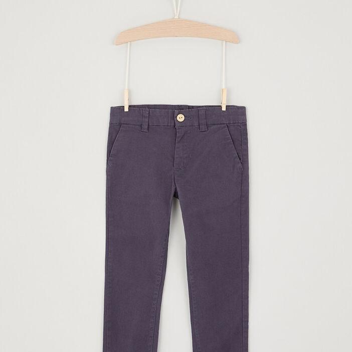 Pantalon en coton uni garçon bleu