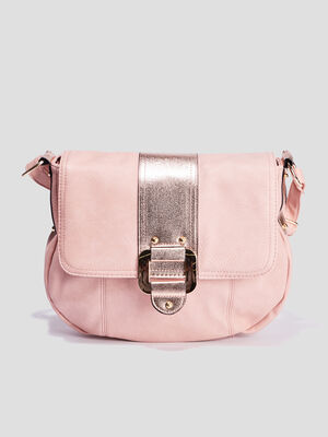 Sac besace a bandouliere rose clair femme