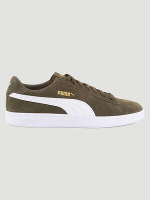 Tennis cuir Puma SMASH V2 vert kaki homme