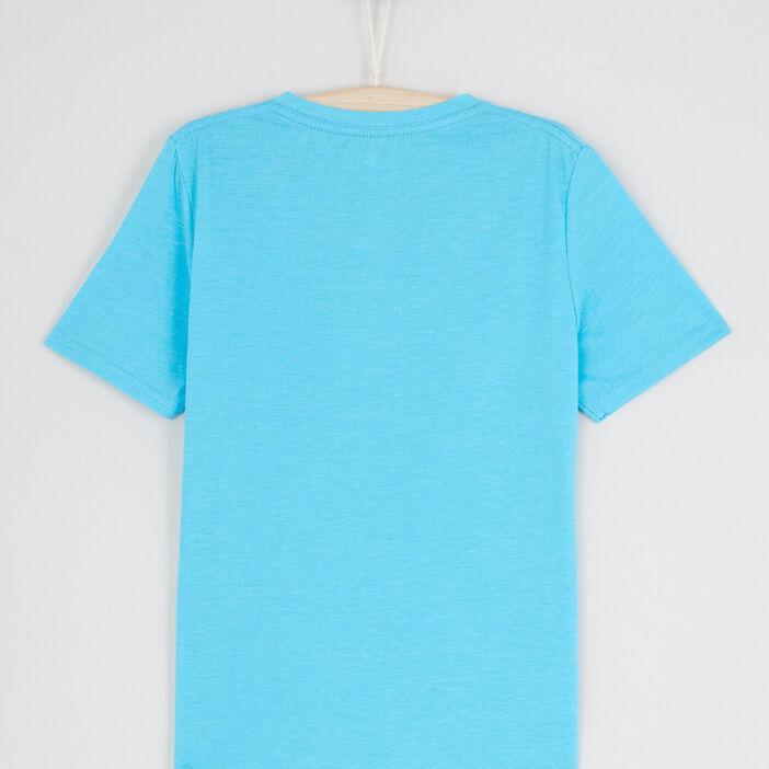 PAS DE VISUEL T-shirt avec col en V garçon bleu turquoise