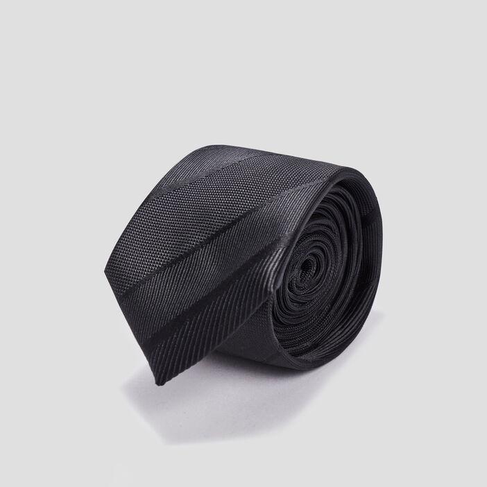 Cravate texturé homme noir