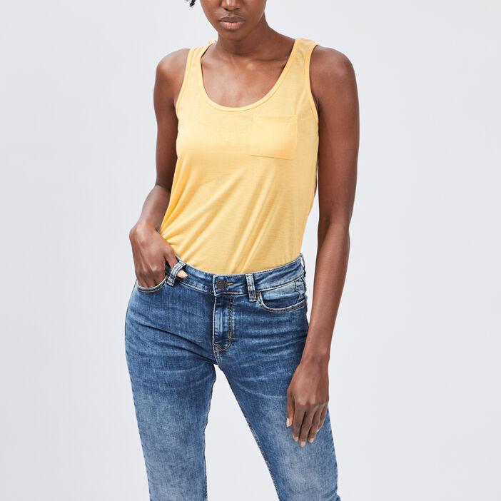 Débardeur bretelles larges femme jaune