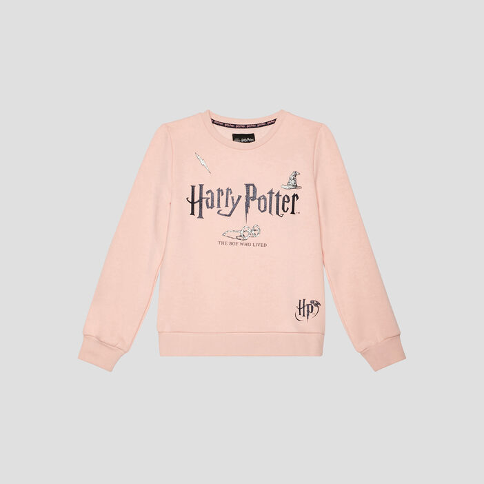 Sweat Harry Potter fille rose clair