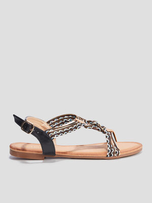 Sandales avec bijoux Liberto noir femme