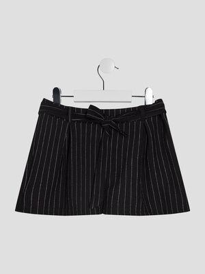 Short paperbag elastique noir fille